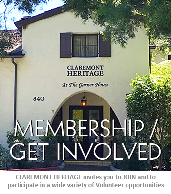 Join Claremont Heritage and Volunteer opps